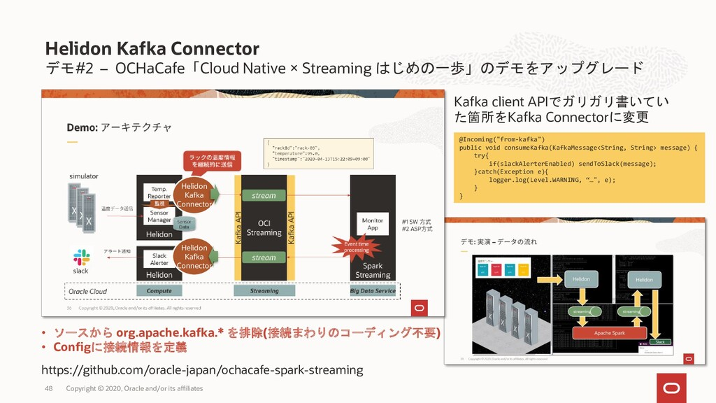 デモ#2 – OCHaCafe「Cloud Native × Streaming はじめの一歩...