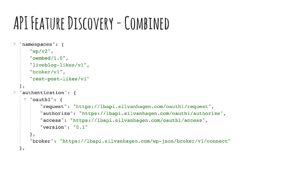 API Feature Discovery - Combined