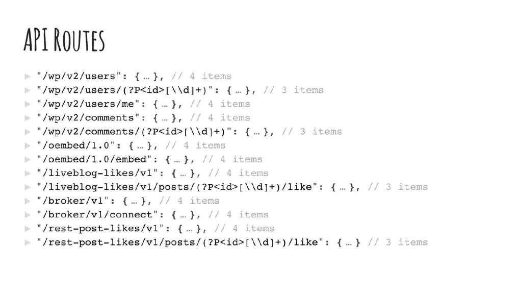 API Routes