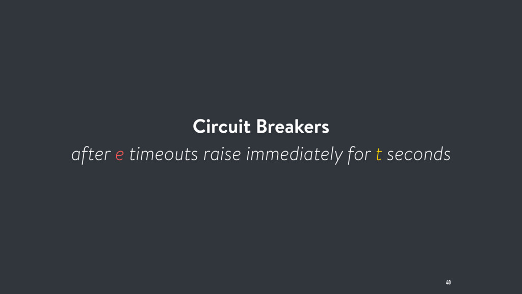 Circuit Breakers after e timeouts raise immedia...