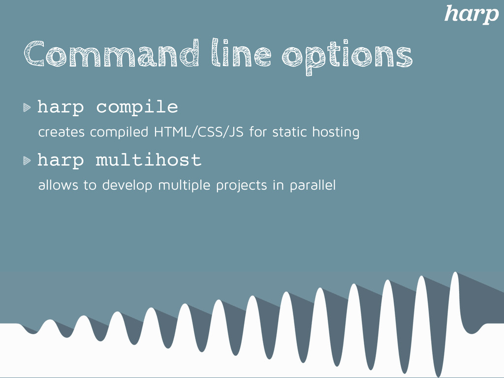 Command line options harp compile creates compi...