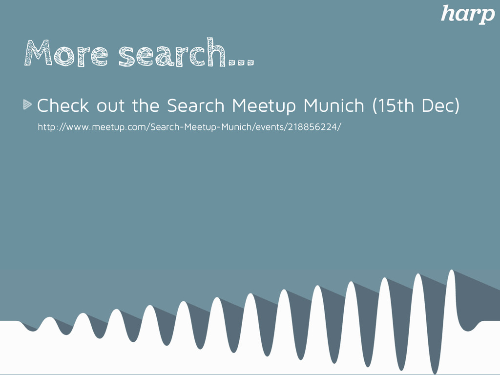 More search... Check out the Search Meetup Muni...