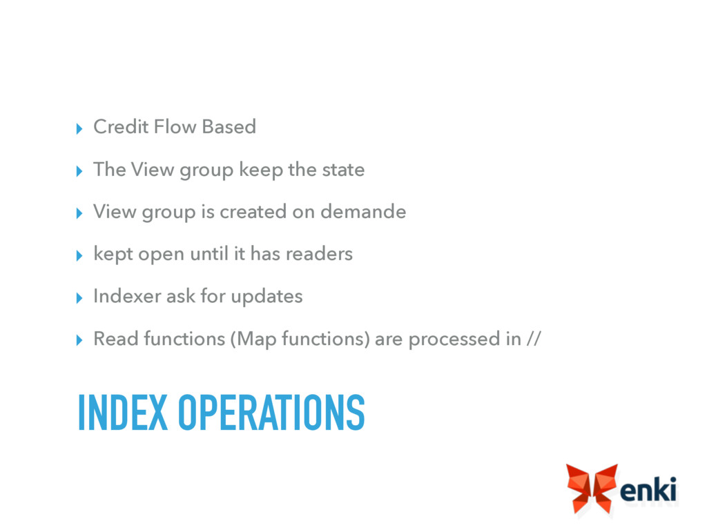 ▸ Credit Flow Based ▸ The View group keep the s...
