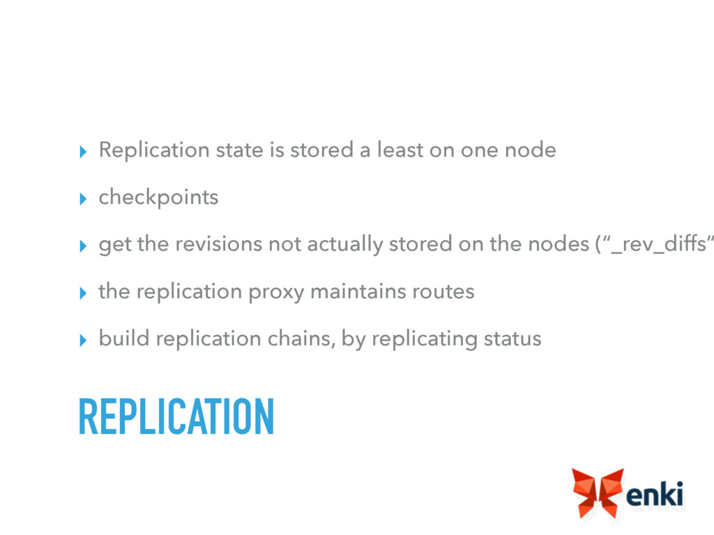 ▸ Replication state is stored a least on one no...