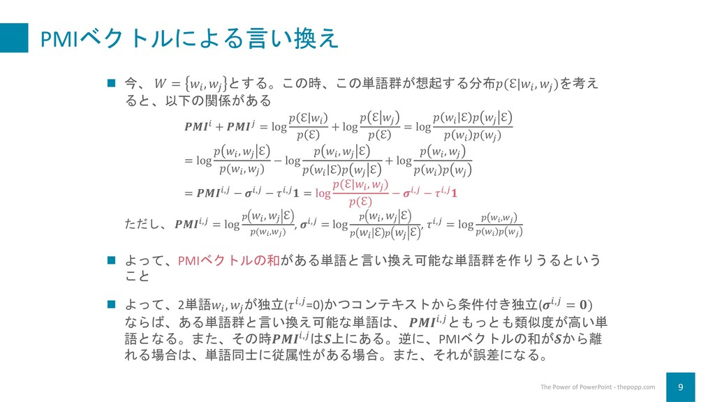 PMIベクトルによる言い換え 9 The Power of PowerPoint - thep...