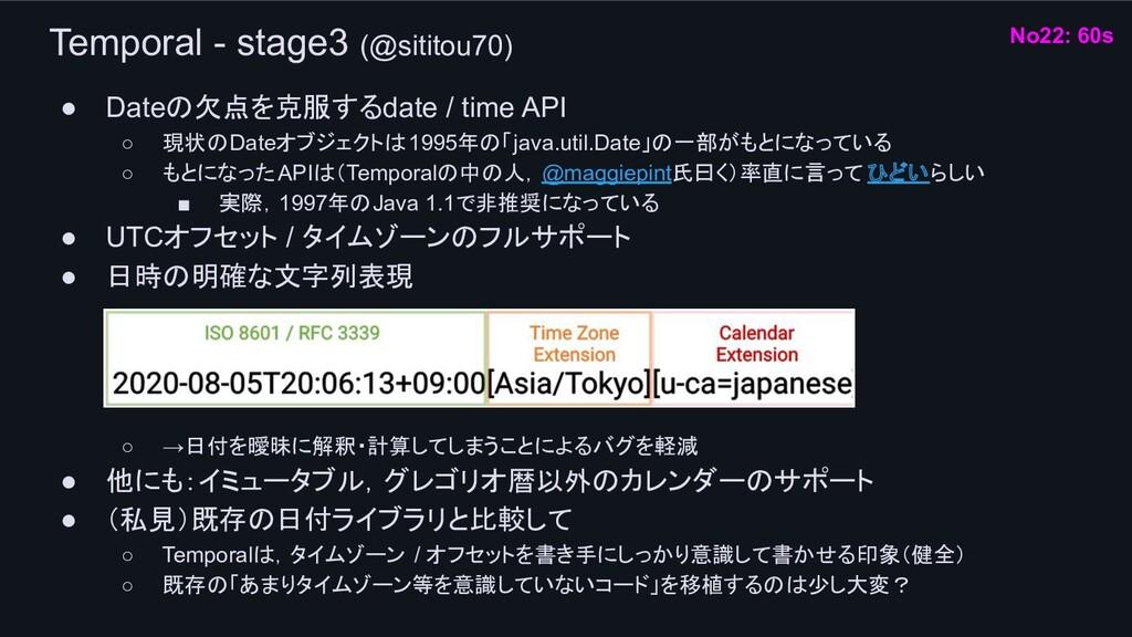 Temporal - stage3 (@sititou70) ● Dateの欠点を克服するda...