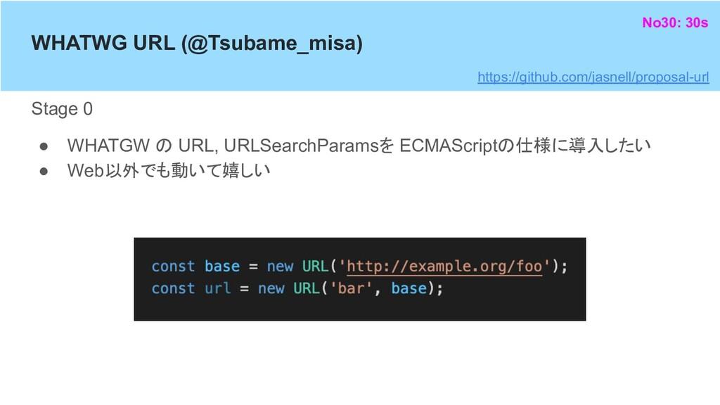WHATWG URL (@Tsubame_misa) Stage 0 ● WHATGW の U...