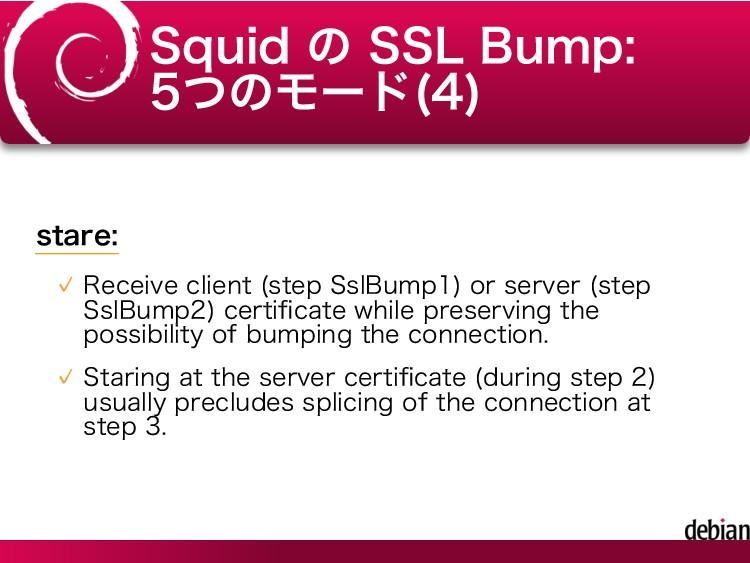 Squid の SSL Bump: 5つのモード(4) stare: Receive clie...