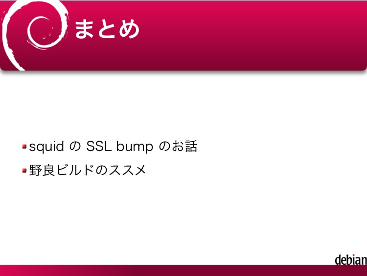 まとめ squid の SSL bump のお話 野良ビルドのススメ