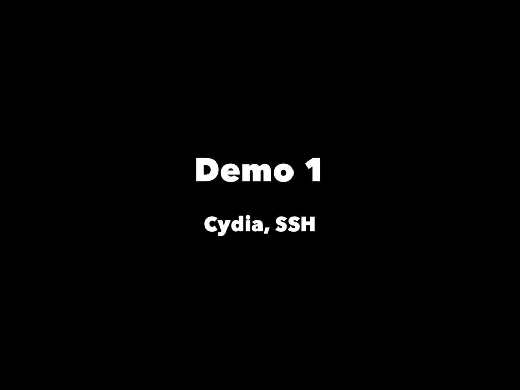 Demo 1 Cydia, SSH