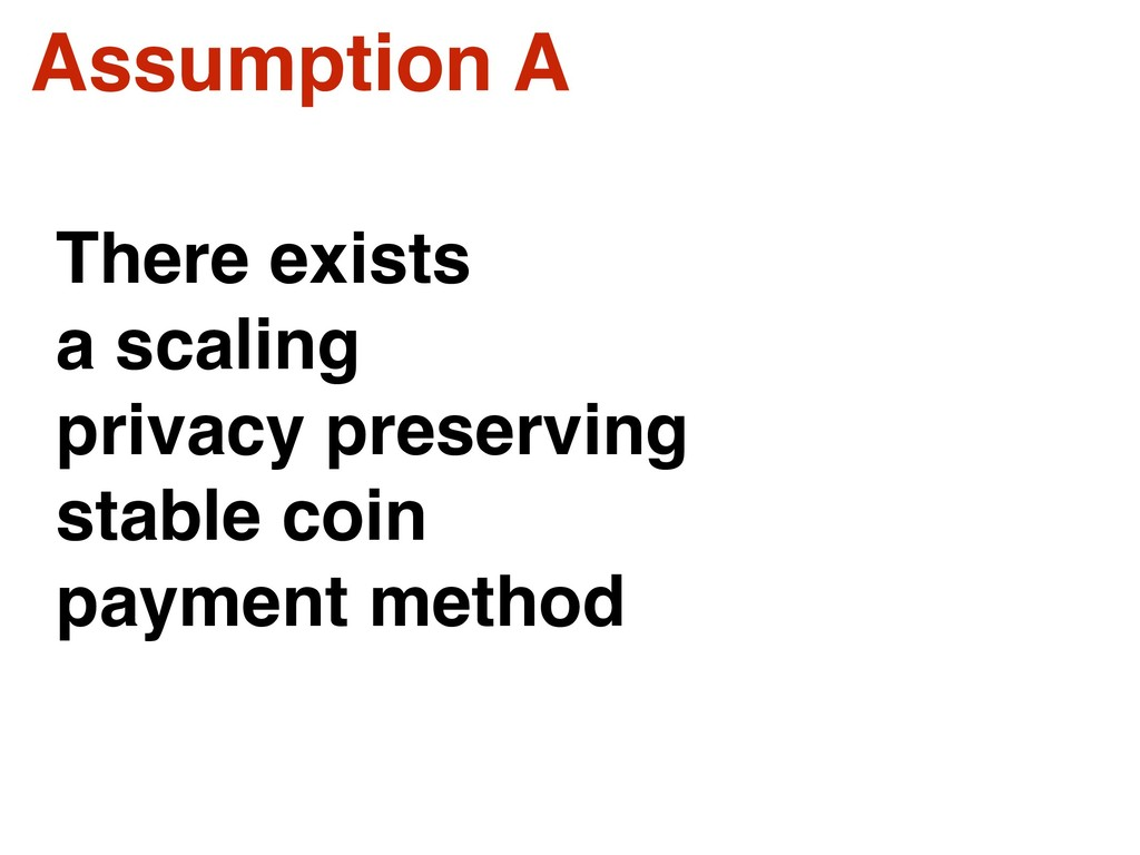 Assumption A There exists