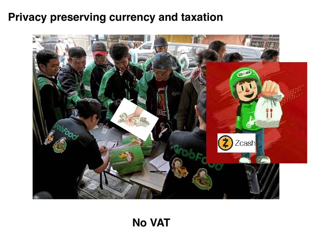 Privacy preserving currency and taxation No VAT