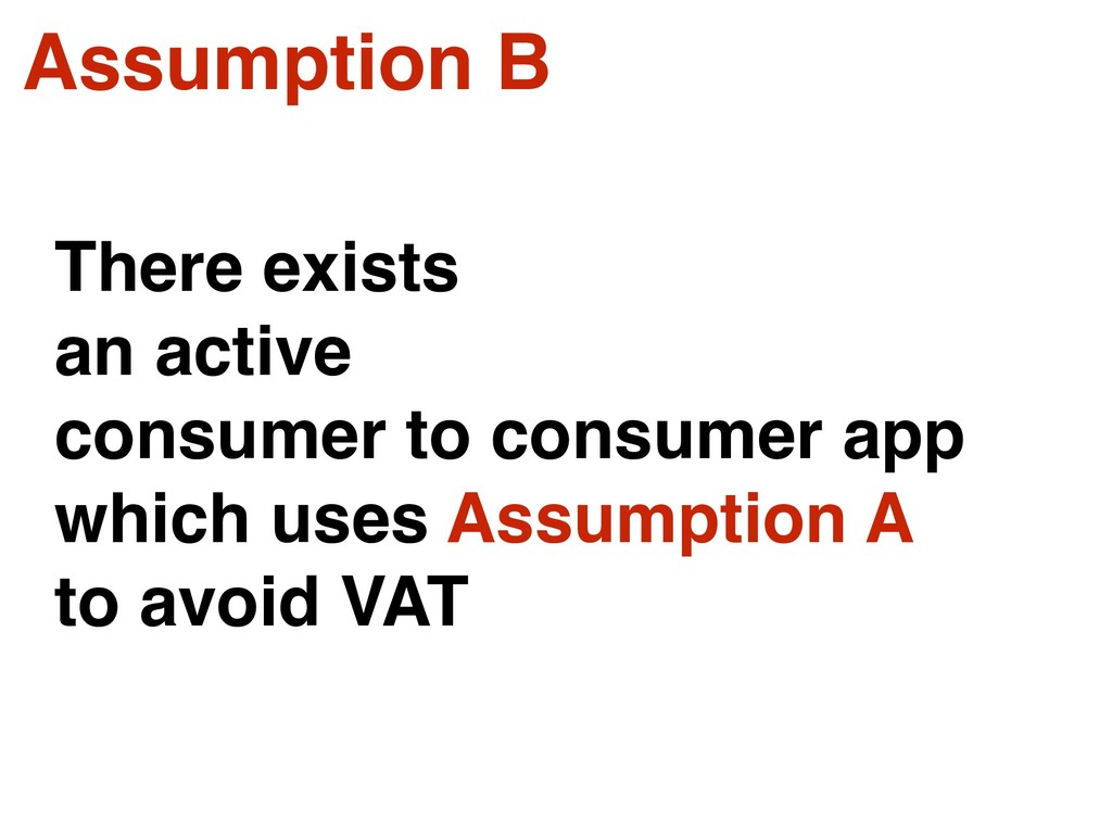 Assumption B There exists