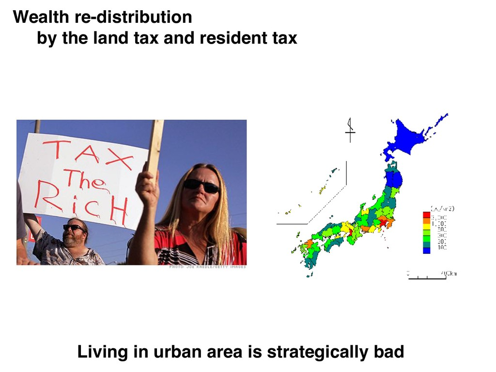 Wealth re-distribution by the land tax and resi...