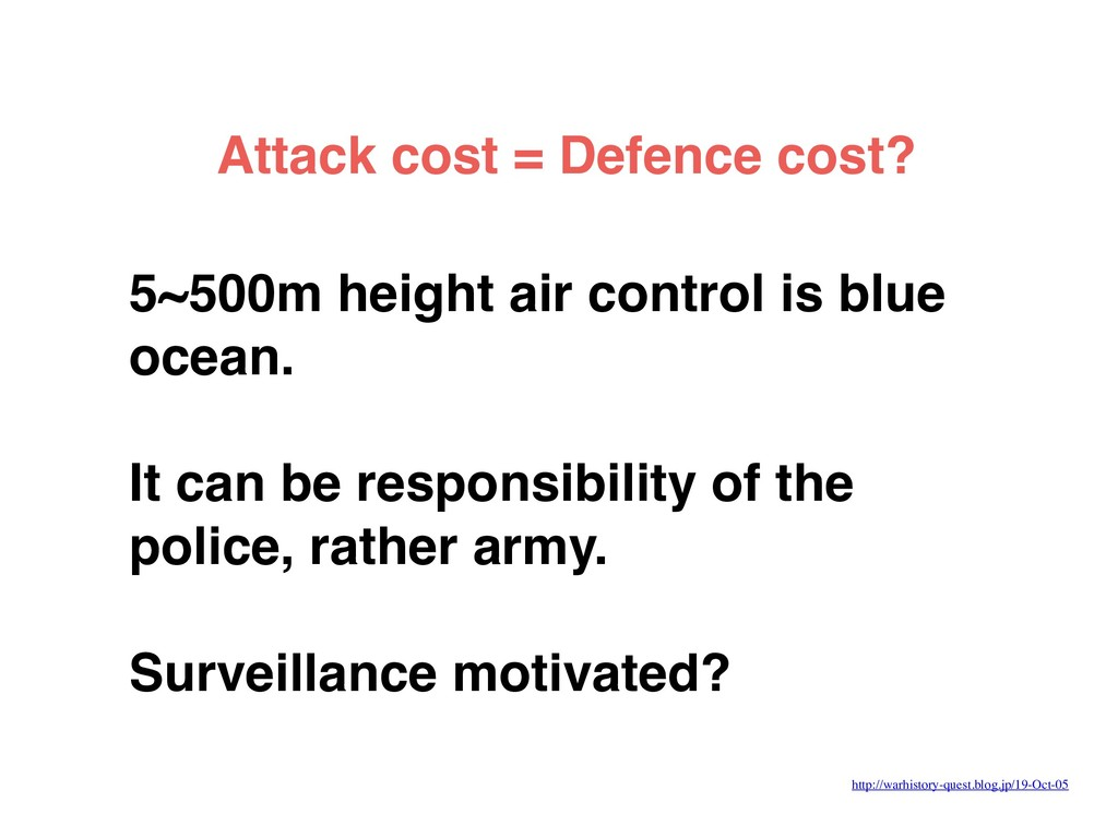 5~500m height air control is blue ocean. It can...