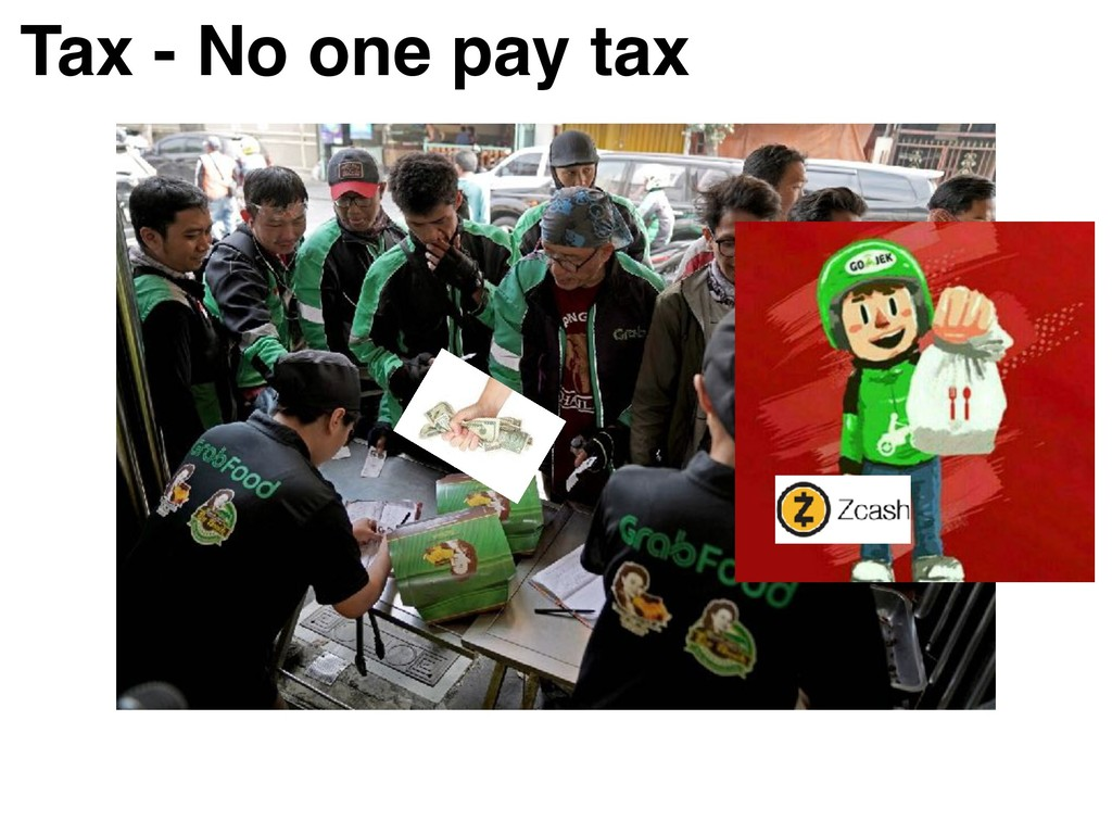 Tax - No one pay tax