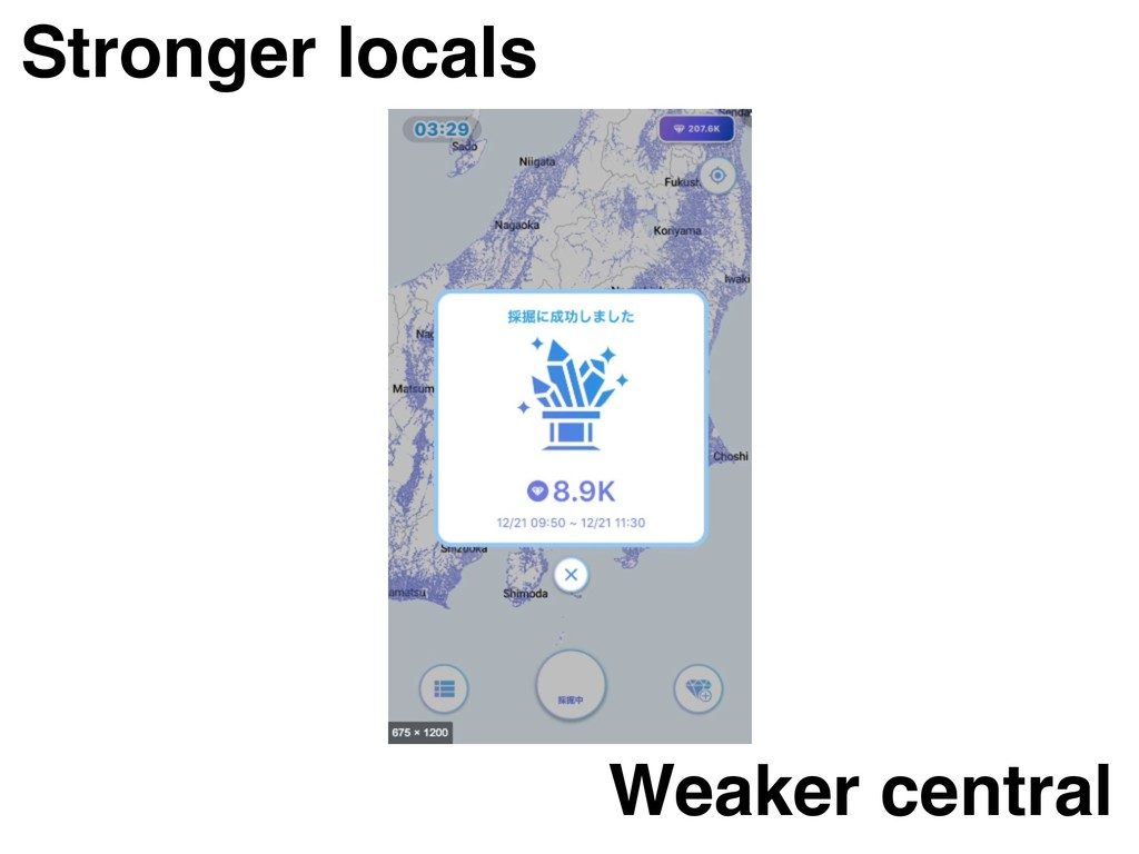 Stronger locals Weaker central