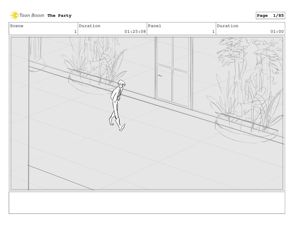 Scene 1 Duration 01:25:08 Panel 1 Duration 01:0...