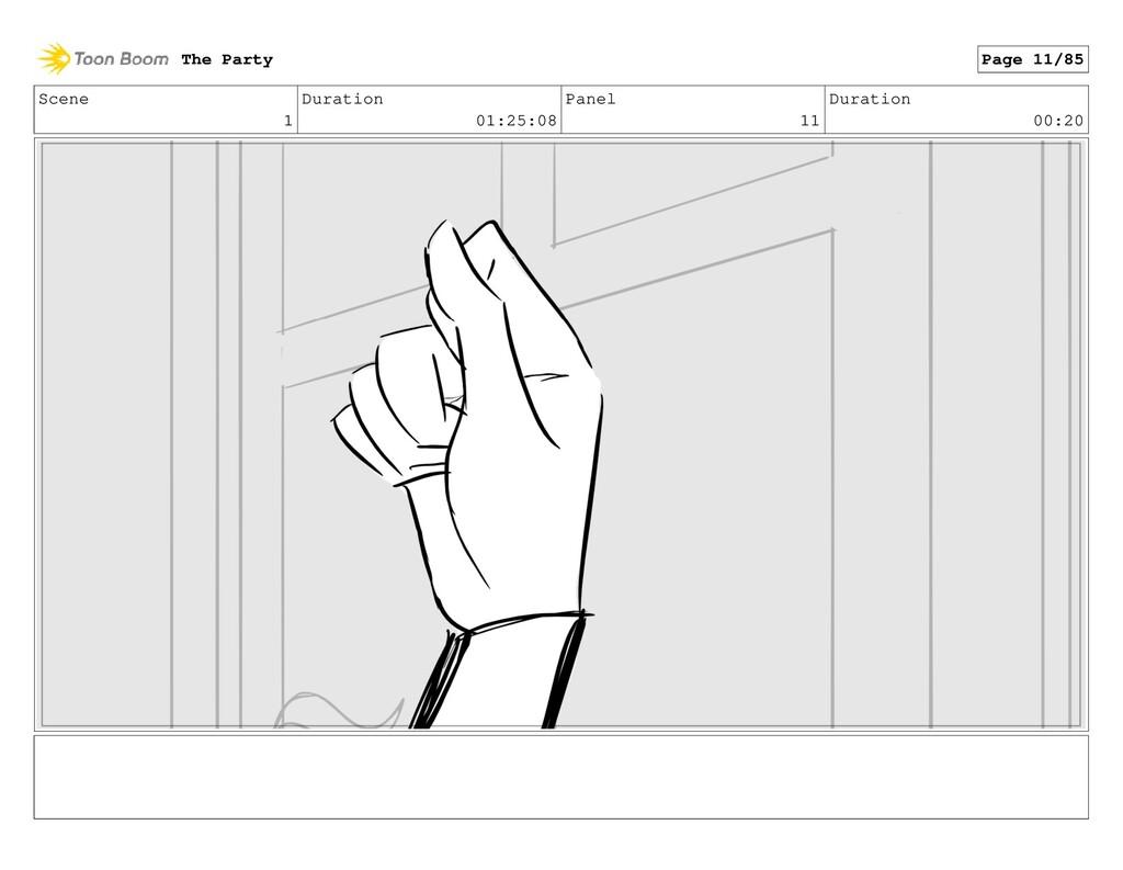 Scene 1 Duration 01:25:08 Panel 11 Duration 00:...