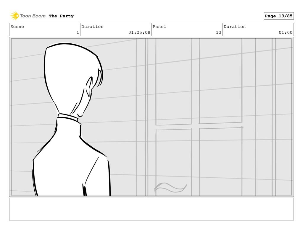 Scene 1 Duration 01:25:08 Panel 13 Duration 01:...