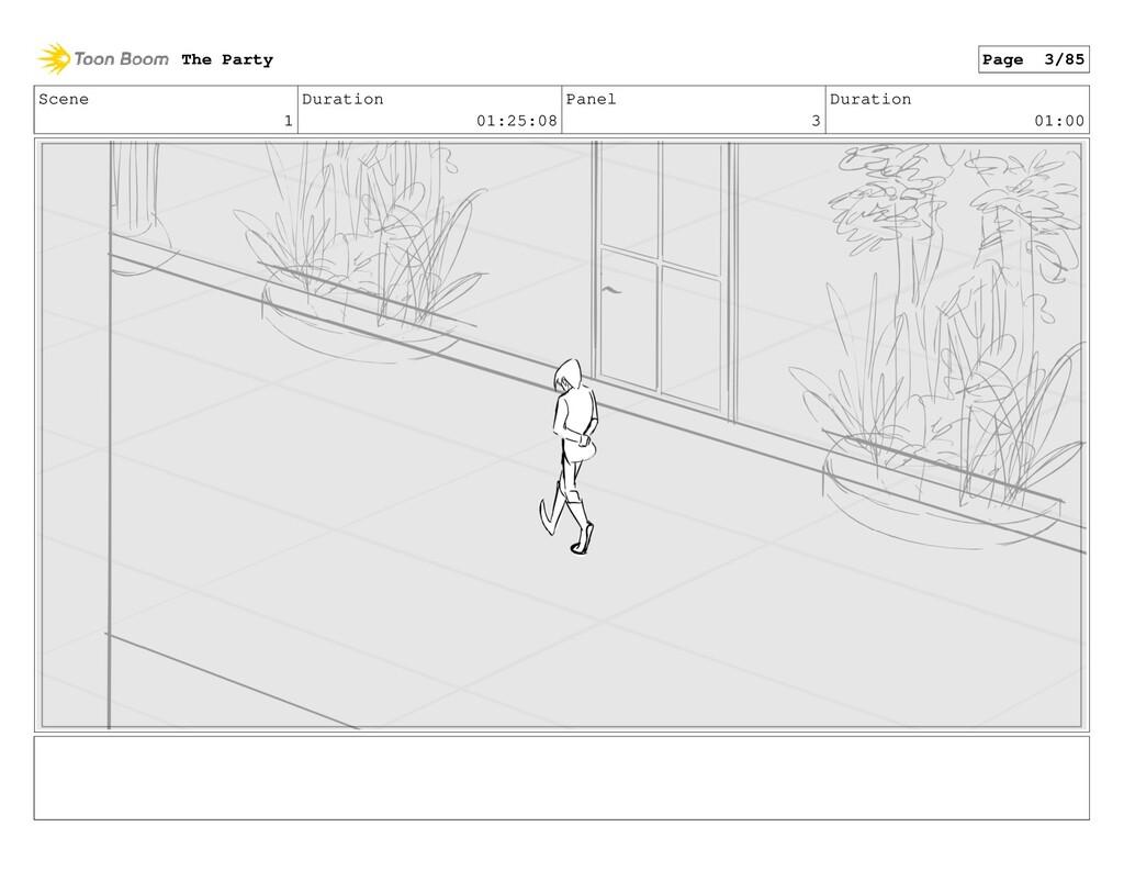 Scene 1 Duration 01:25:08 Panel 3 Duration 01:0...