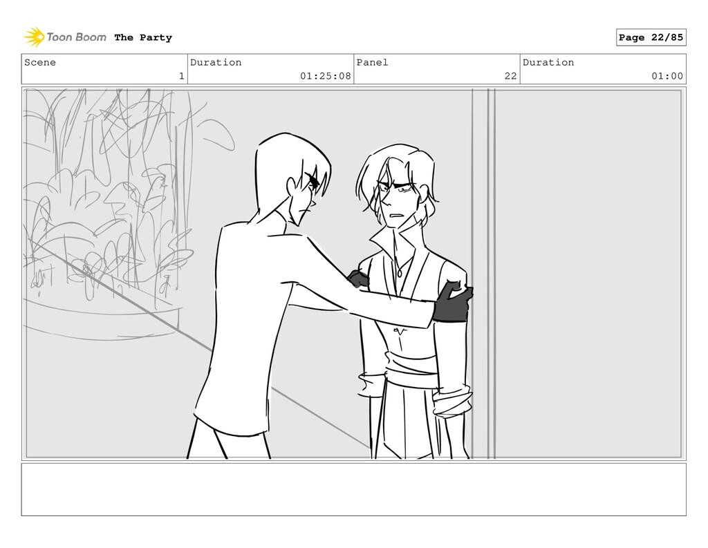 Scene 1 Duration 01:25:08 Panel 22 Duration 01:...