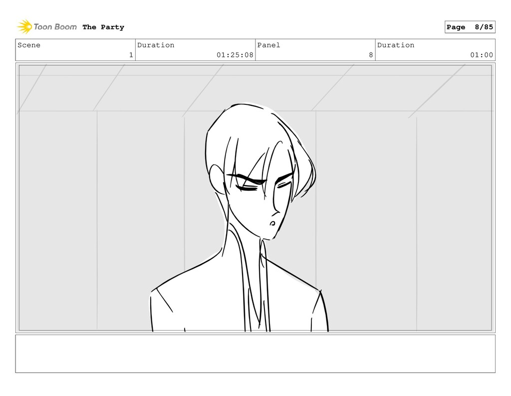 Scene 1 Duration 01:25:08 Panel 8 Duration 01:0...