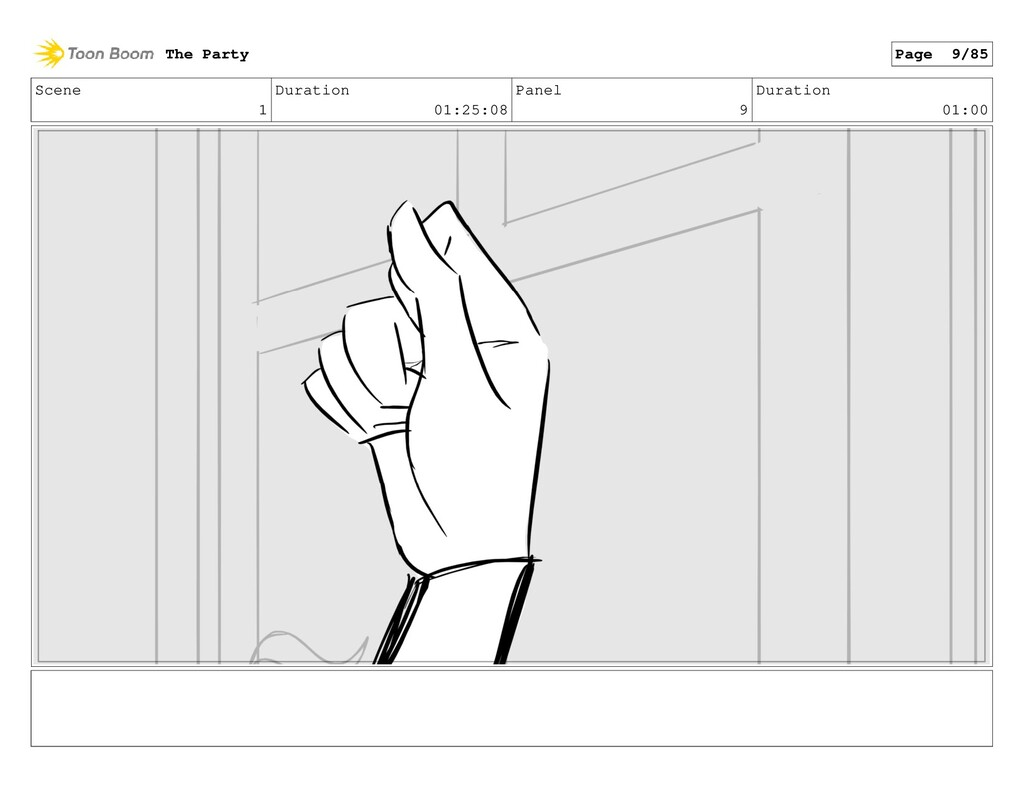 Scene 1 Duration 01:25:08 Panel 9 Duration 01:0...