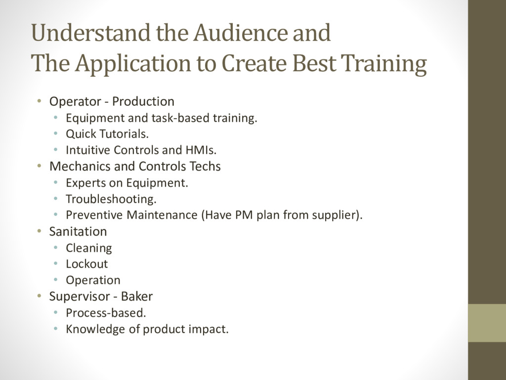 Understand the Audience and The Application to ...