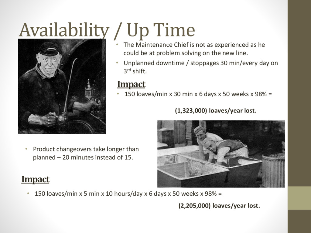 Availability / Up Time • The Maintenance Chief ...