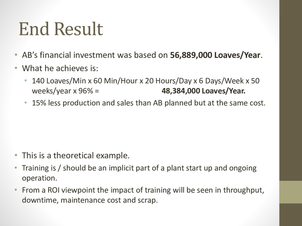 End Result • AB's financial investment was base...