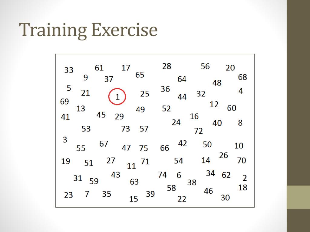 Training Exercise