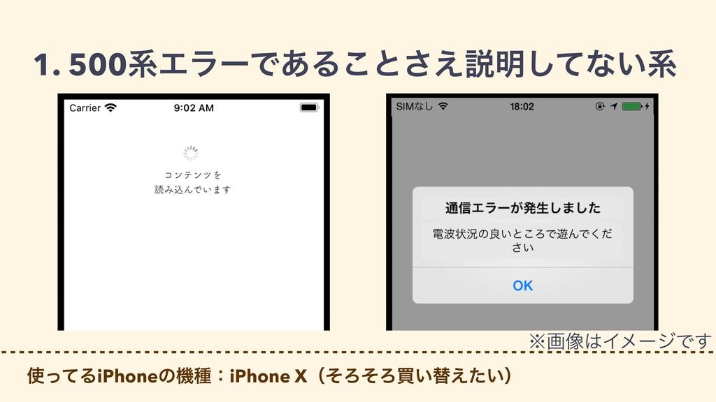 1. 500ܥΤϥʔͰ͋Δ͜ͱ͑͞આ໌ͯ͠ͳ͍ܥ ͬͯΔiPhoneͷػछɿiPhone X...