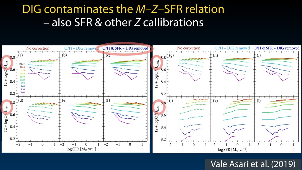 Vale Asari et al. (2019) DIG effects on O/H est...