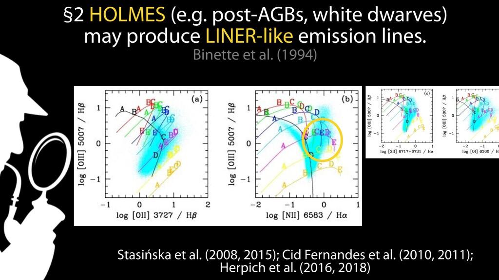 Stasińska et al. (2008, 2015); Cid Fernandes et...