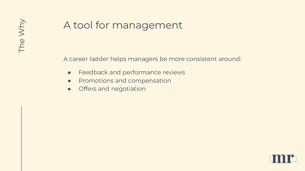 A tool for management A career ladder helps man...