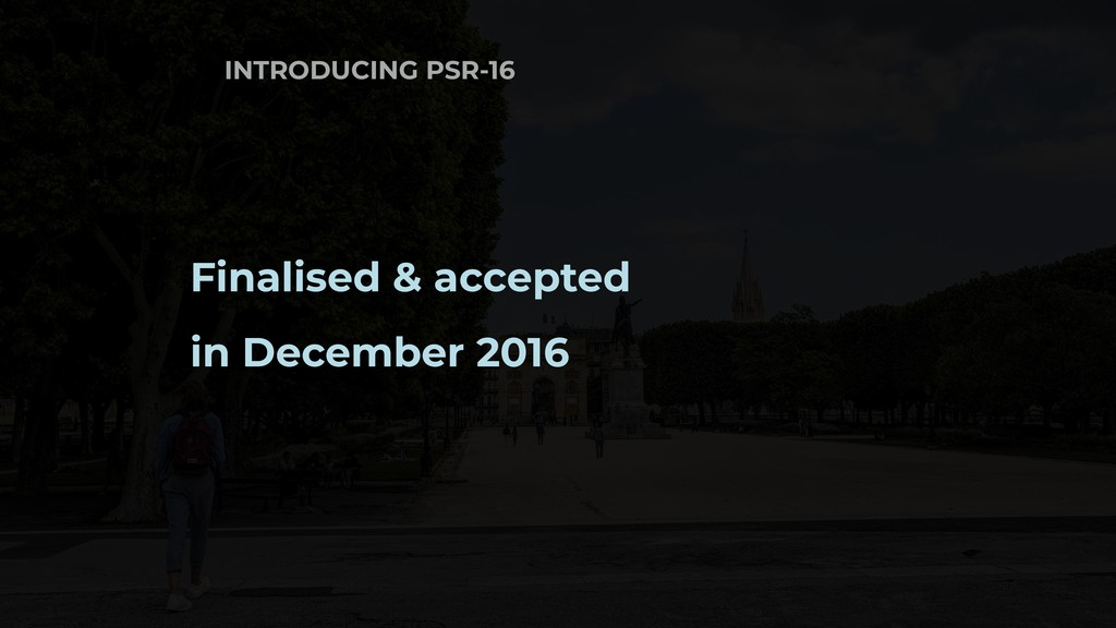 INTRODUCING PSR-16 Finalised & accepted in Dece...