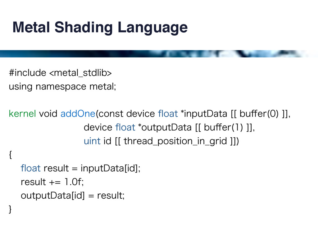 Metal Shading Language JODMVEFNFUBM@TUEMJC...