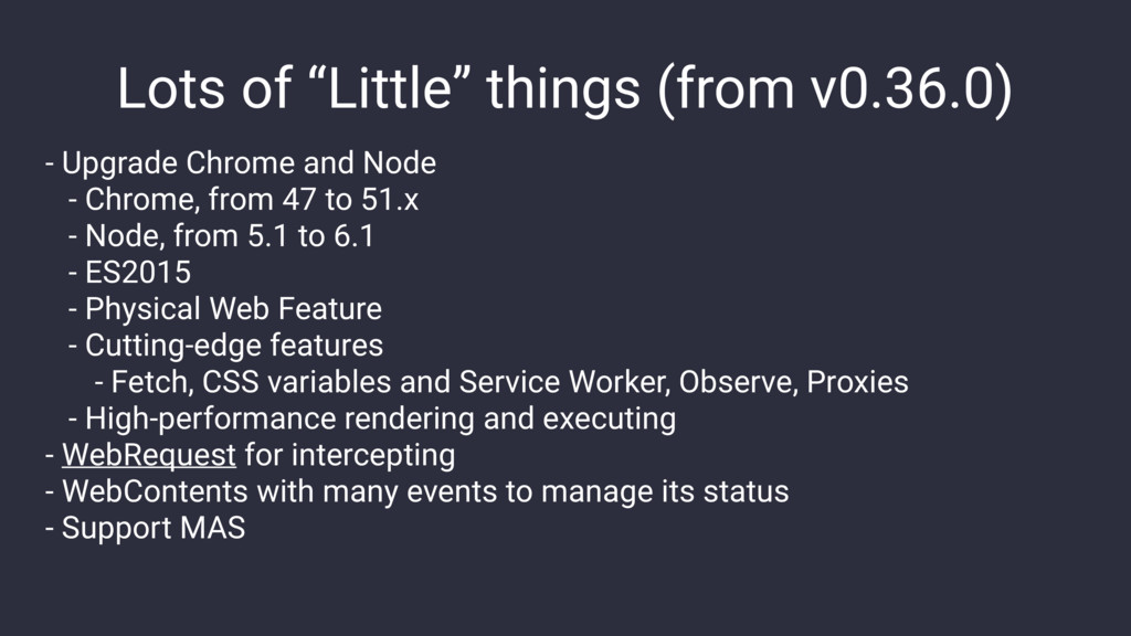 "Lots of ""Little"" things (from v0.36.0) - Upgrad..."
