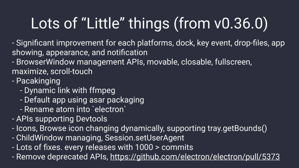 "Lots of ""Little"" things (from v0.36.0) - Signifi..."