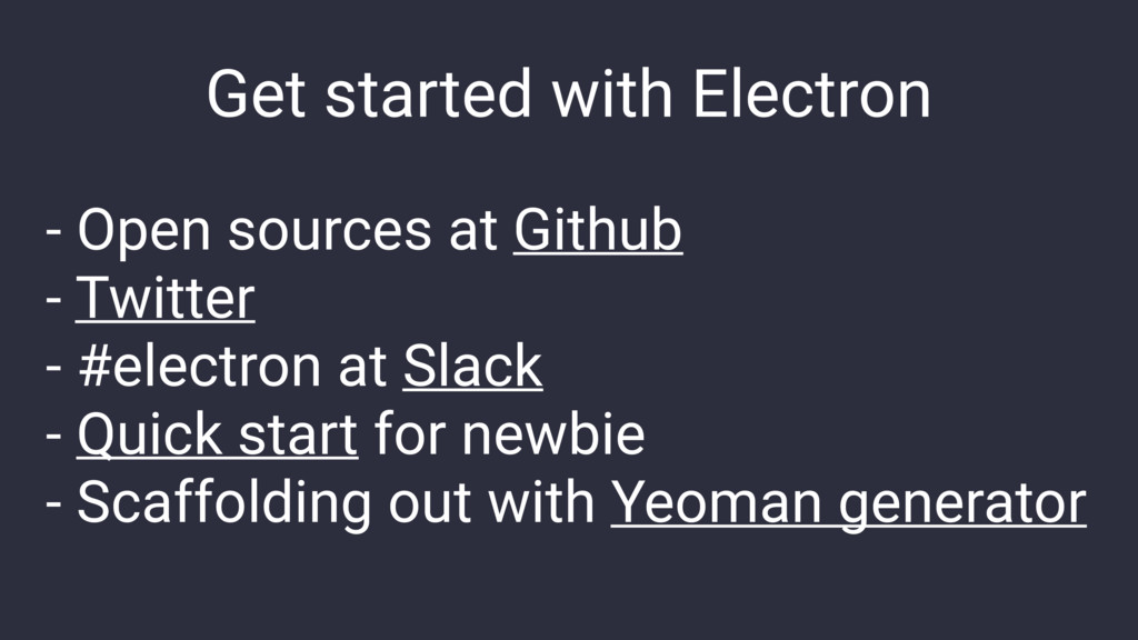 Get started with Electron - Open sources at Git...