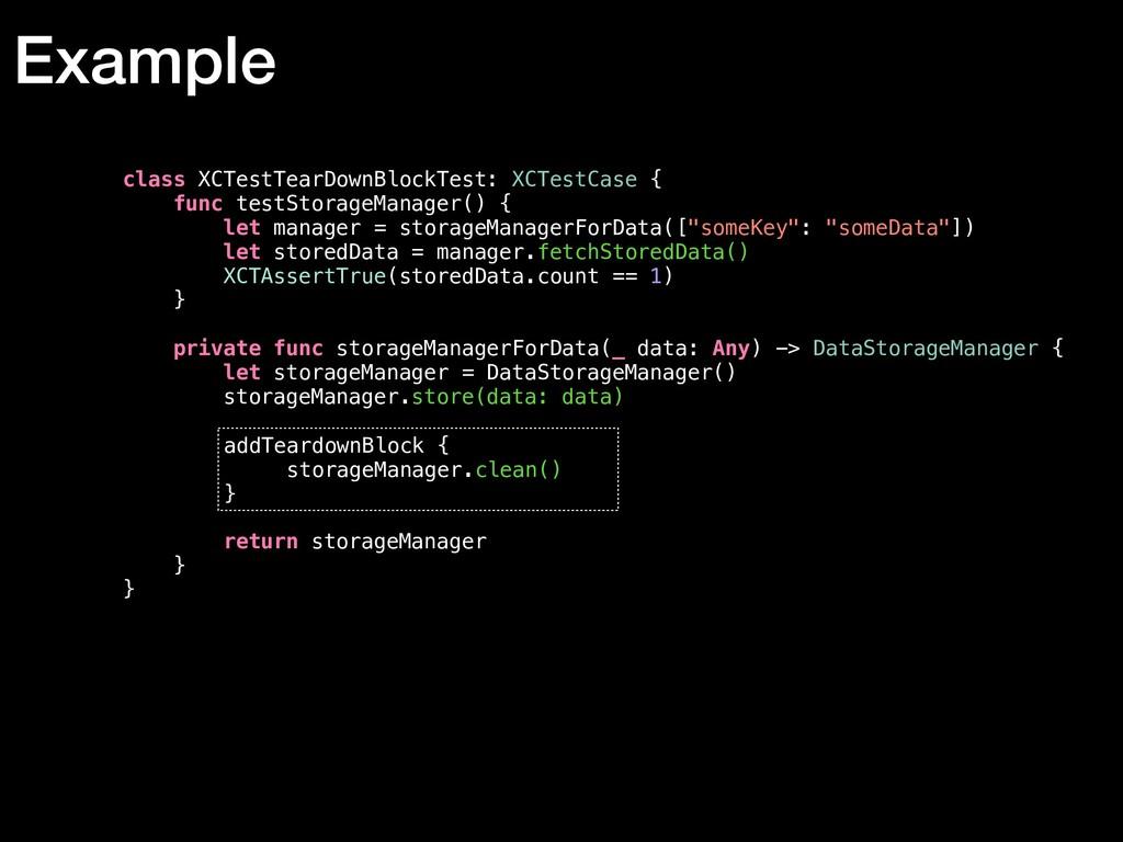 class XCTestTearDownBlockTest: XCTestCase { fun...