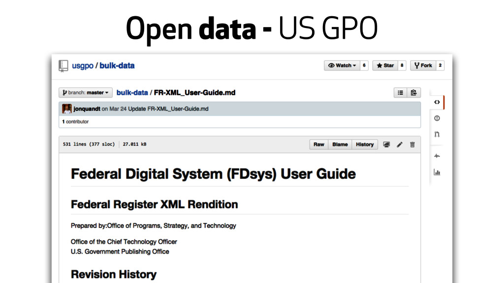 Open data - US GPO