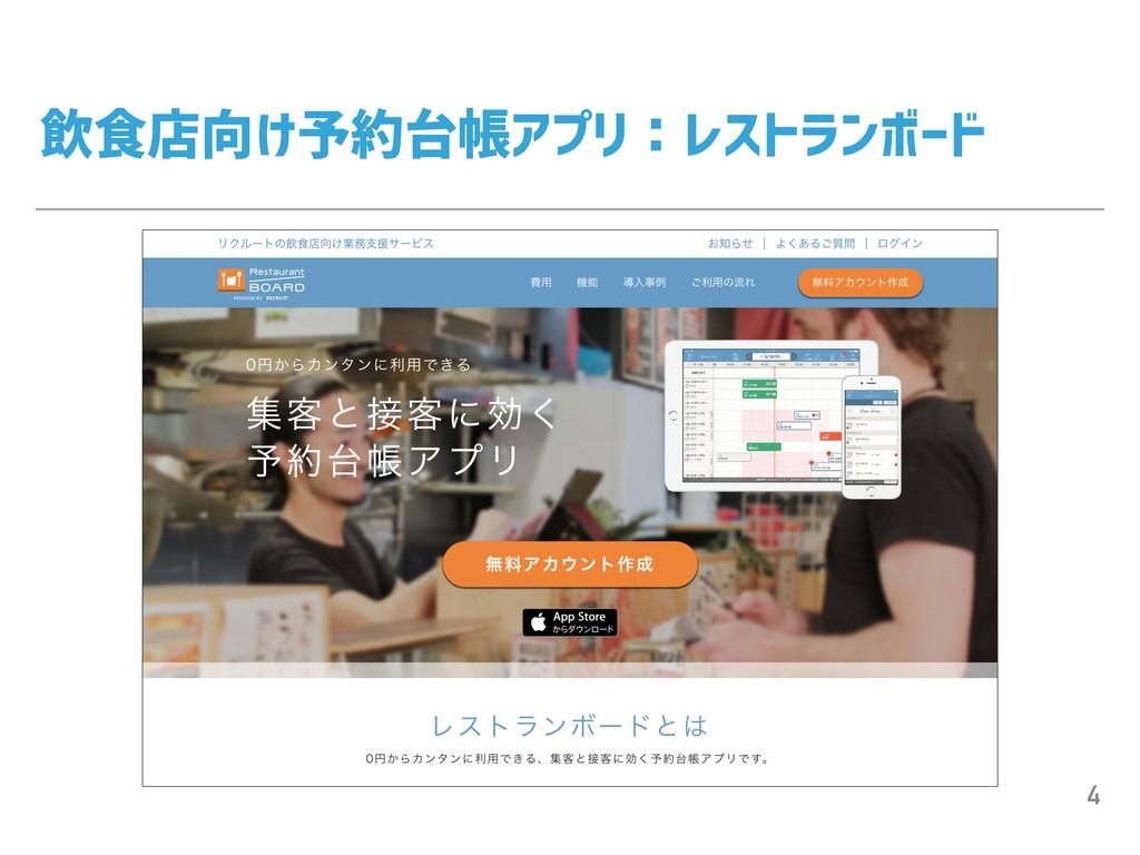 飲食店向け予約台帳アプリ:レストランボード 4