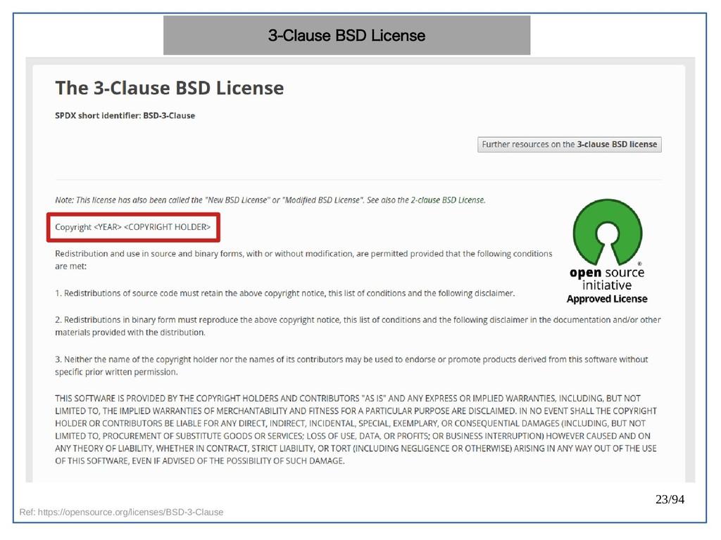 23/94 Ref: https://opensource.org/licenses/BSD-...