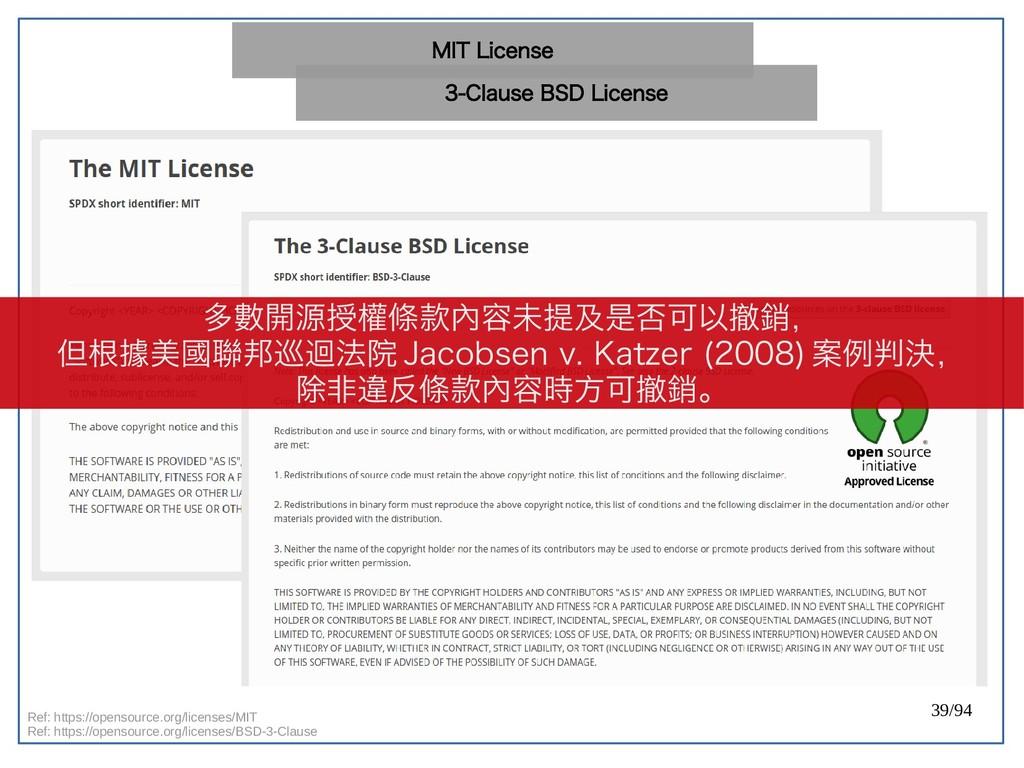 39/94 Ref: https://opensource.org/licenses/MIT ...