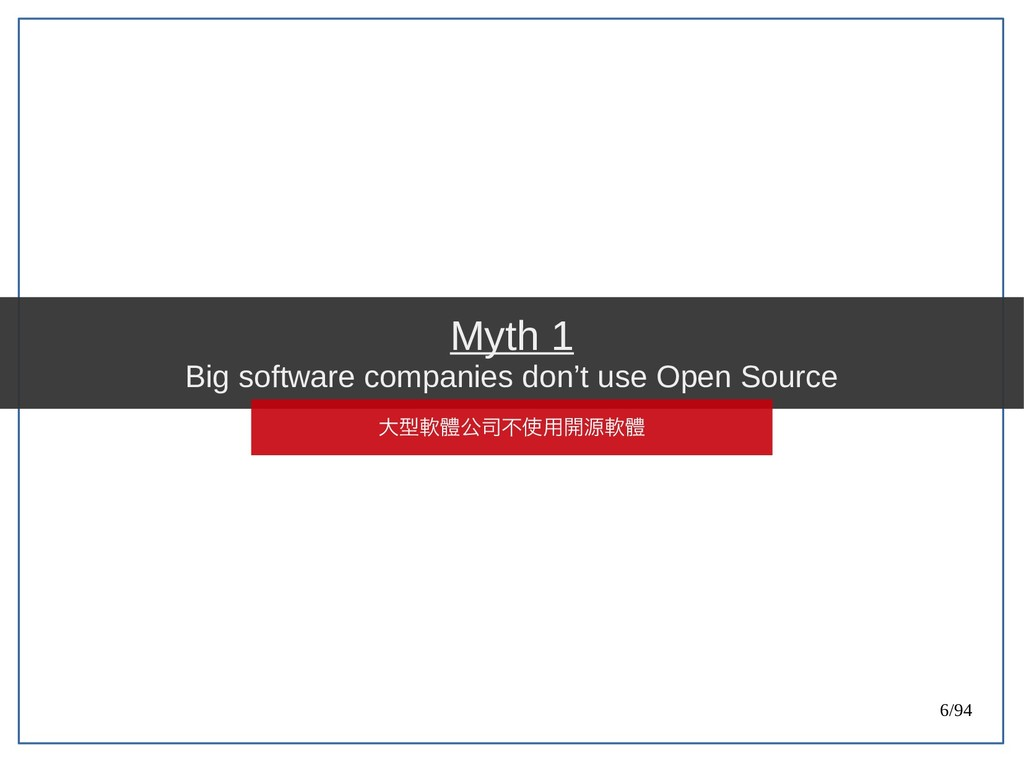6/94 Myth 1 Big software companies don't use Op...