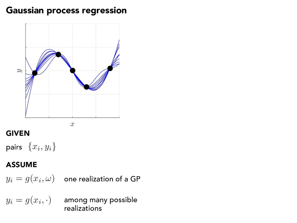 Gaussian process regression x y { xi, yi } pair...