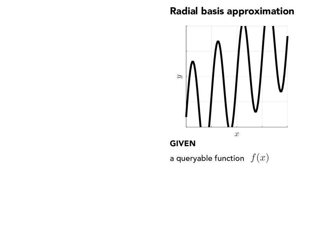 Radial basis approximation x y GIVEN a queryabl...