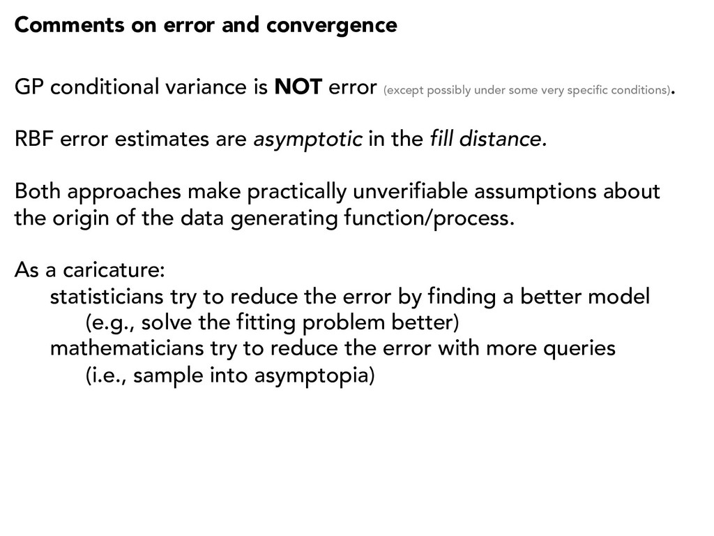 Comments on error and convergence GP conditiona...